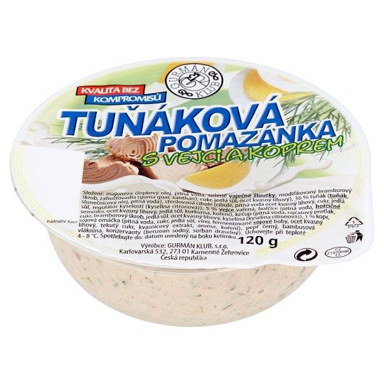 Gurmán Klub Tuna Spread with Eggs and Dill 120g