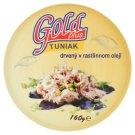 Gold Plus Tuňák drcený v rostlinném oleji 160g