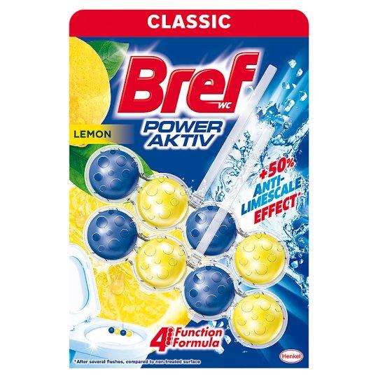 Bref Power Aktiv Juicy Lemon tuhý WC blok 2 x 50g