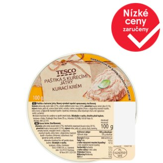 Tesco Pate with Chicken Livers 100g