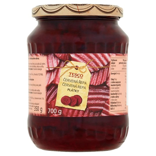 Tesco Red Beet Slices 700g