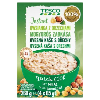 Tesco Instant Oatmeal with Nuts 4 x 65g
