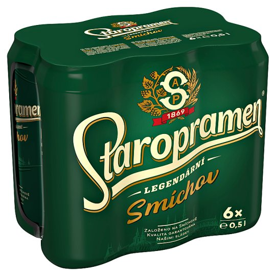 Staropramen Smíchov pivo výčepní světlé 6 x 0,5l
