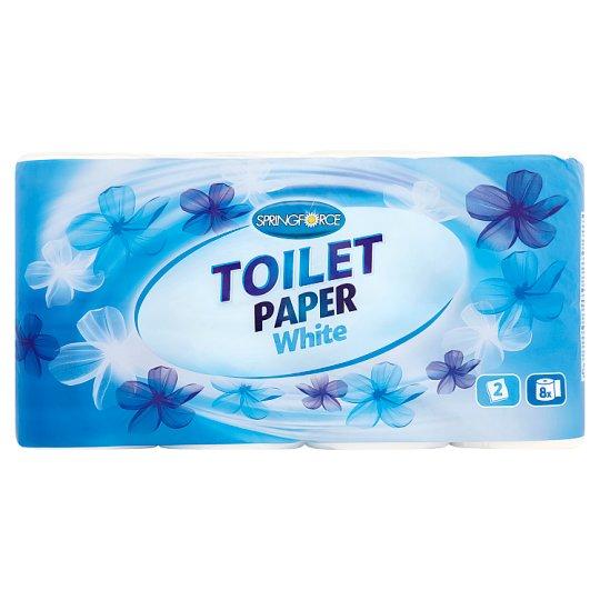 Springforce Toilet Paper White 8 Rolls