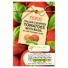 Tesco Italian Chopped Tomatoes with Basil in Rich Tomato Juice 390g