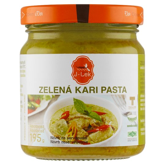 J Lek Green Curry Paste 195g