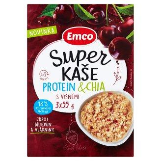 Emco Super kaše protein & chia s višněmi 3 x 55g