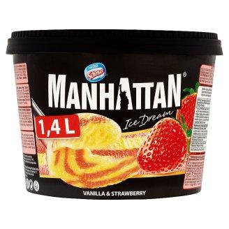 Manhattan Ice Dream Strawberry - Vanilla Ice Cream 1400ml