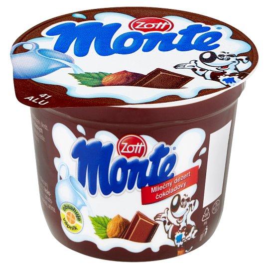 Zott Monte Mléčný dezert čokoládový s lískovými oříšky 100g