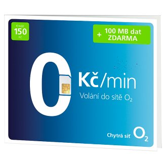 O2 Free Call with Credit 150 CZK + 100 MB Free