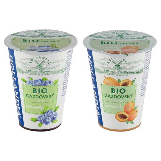 Hollandia Bio selský jogurt borůvky s kulturou BiFi 180g