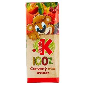 Kubík 100% červený mix ovoce 200ml