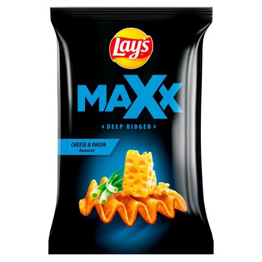 Lay's Maxx Smažené bramborové lupínky s příchutí sýra a cibulky 130g