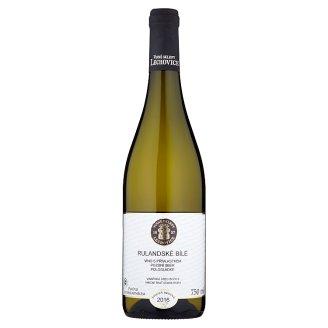 Vinné Sklepy Lechovice Rulandské bílé víno s přívlastkem pozdní sběr polosladké bílé 750ml