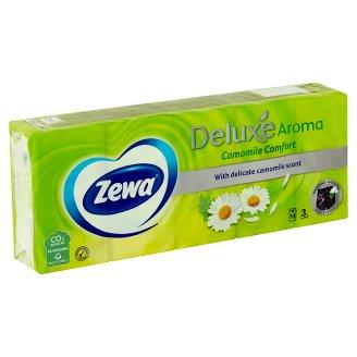Zewa Deluxe Camomile papírové kapesníčky 10 x 10 ks
