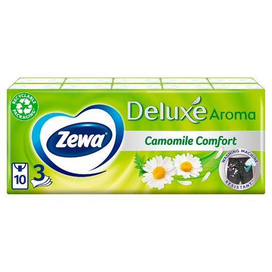 Zewa Deluxe Camomile Comfort Handkerchiefs 10 x 10 pcs