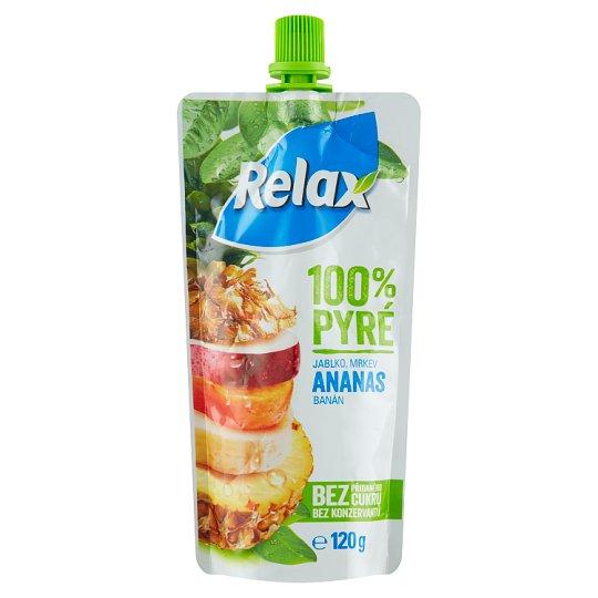 Relax 100% pyré jablko mrkev ananas banán 120g