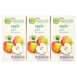 Tesco Organic Apple Juice from Concentrate 3 x 200ml