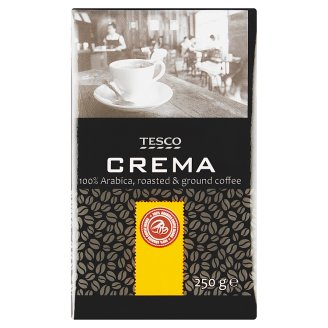 Tesco Crema pražená mletá káva 100% Arabica 250g