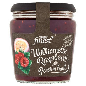 Tesco Finest Džem malinový se šťávou z maracuje 340g