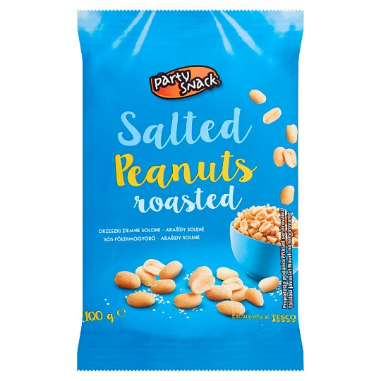 Party Snack Peanuts Roasted Salted 100g