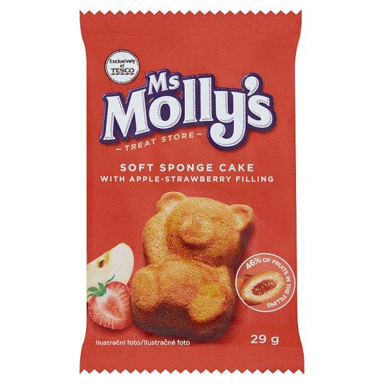 Ms Molly's Jemné pečivo s jablečno-jahodovou náplní 29g