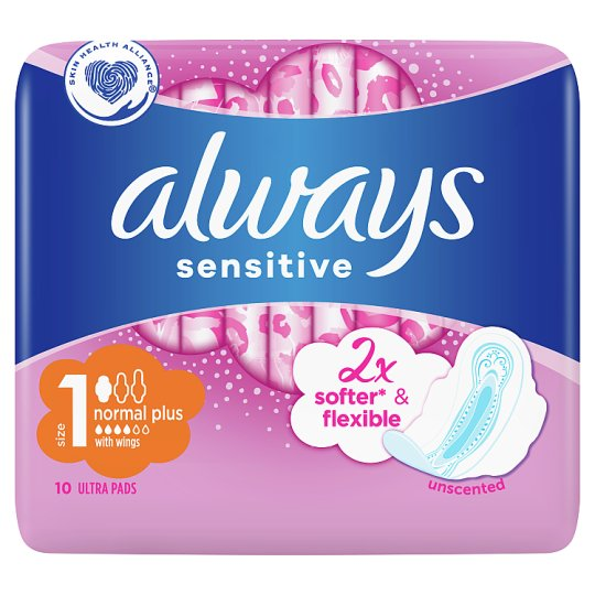 Always Sensitive Normal Ultra (Size 1) Sanitary Towels Wings 10 Pads