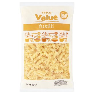 Tesco Value Fusilli Noodles Egg-Free Dried 500g