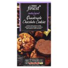 Tesco Finest All Butter Quadruple Chocolate Cookies 200g