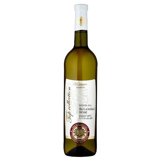 Vinařství Mutěnice Rulandské šedé jakostní víno s přívlastkem pozdní sběr polosladké bílé 0,75l