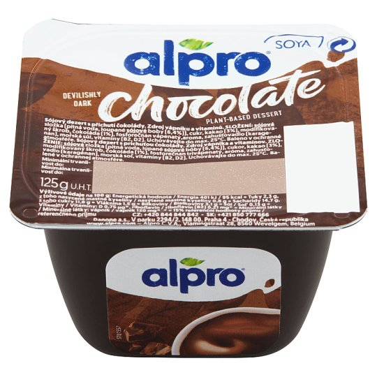 Alpro Soya Dessert Dark Chocolate 125g