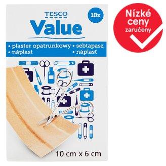Tesco Value Adhesive Dressing Strip 10cm x 6cm