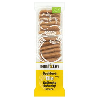Dobré Časy Špaldové bio sušenky natural 100g