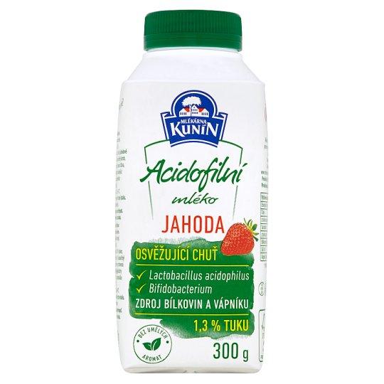 Mlékárna Kunín Acidophilic Milk Strawberry 300g