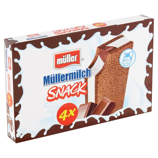 Müller Müllermilch Snack Chocolate Flavor 4 x 29g