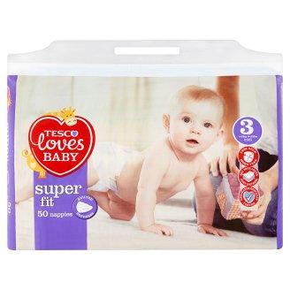 Tesco Loves Baby Super Fit plenky 3 Midi 50 ks