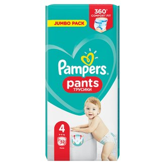 Pampers Pants Vel. 4, 52 Plenkových Kalhotek