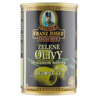 Kaiser Franz Josef Green Olives, Pitted in Brine 300g