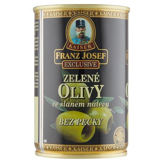 Kaiser Franz Josef Exclusive Zelené olivy bez pecky ve slaném nálevu 300g