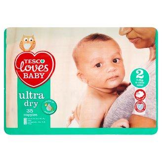 Tesco Loves Baby Ultra dry plenky 2 mini 35 ks