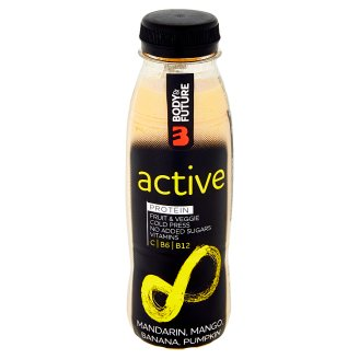 Body&Future Active mandarinka, mango, banán, dýně, protein 330ml