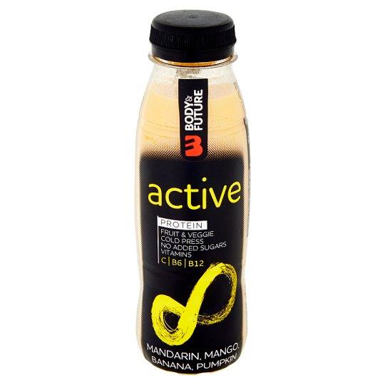 Body&Future Active mandarinka, mango, banán, dýně, protein 330ml