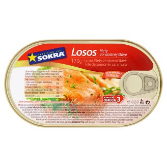 Sokra Salmon Fillets in Own Sauce 170g
