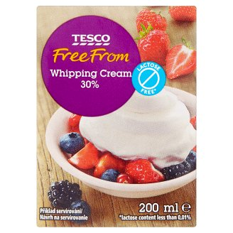 Tesco Free From Lactose Free * Durable Whipping Cream 200ml
