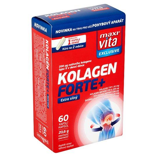 MaxiVita Exclusive Kolagen forte+ extra silný 60 kapslí 20,6g