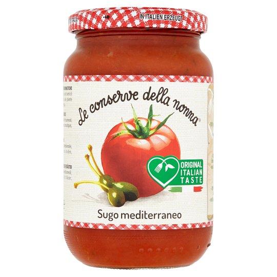 Le Conserve della Nonna Sugo Mediterraneo rajčatová omáčka s kapary 350g