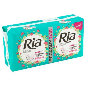 Ria Ultra Silk Normal Plus Deo vložky 2 x 10 ks