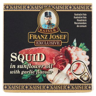 Kaiser Franz Josef Exclusive Squid in Sunflower Oil with Garlic Flavor 80g