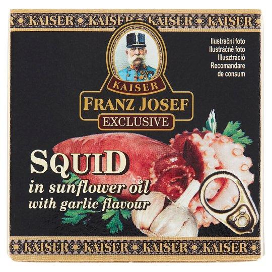 Kaiser Franz Josef Exclusive Kalamáry ve slunečnicovém oleji s česnekovou příchutí 80g