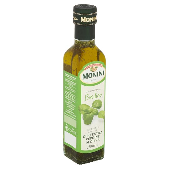 Monini Dressing with Extra Virgin Olive Oil with Basil 250ml